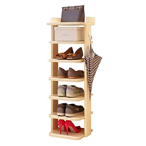 Organizador de almacenamiento de zapatero Rack de zapatos Organizador de zapatos de piso a techo de 7 capas, utilizado en el dormitorio Sala de estar Corredor Zapato Cambio de zapatos Estantería Almac
