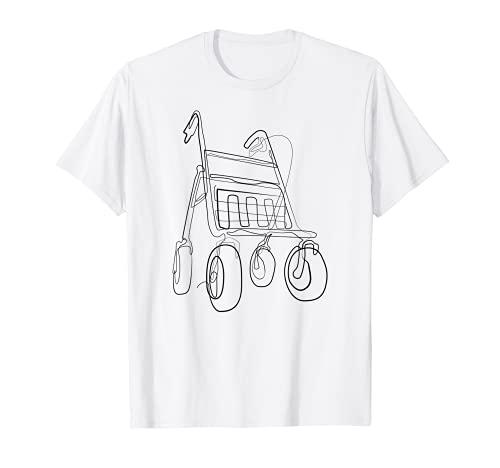 Rentner Rollator Rente Ruhestand - T-Shirt