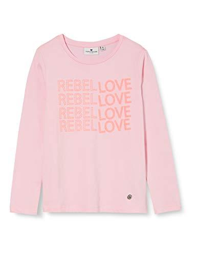 TOM TAILOR Mädchen Langarmshirt T-Shirt, Lilac Sachet|Rose, 152