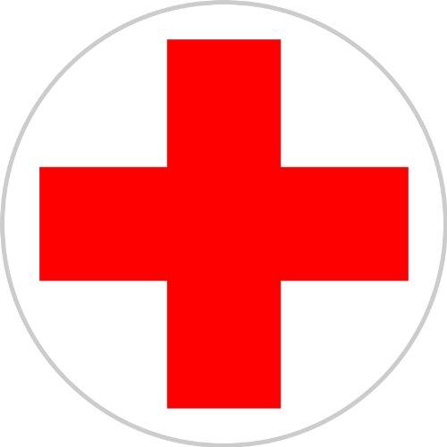 Aufkleber DRK Rotes Kreuz für Erste Hilfe/Verbandskasten 20 cm rund