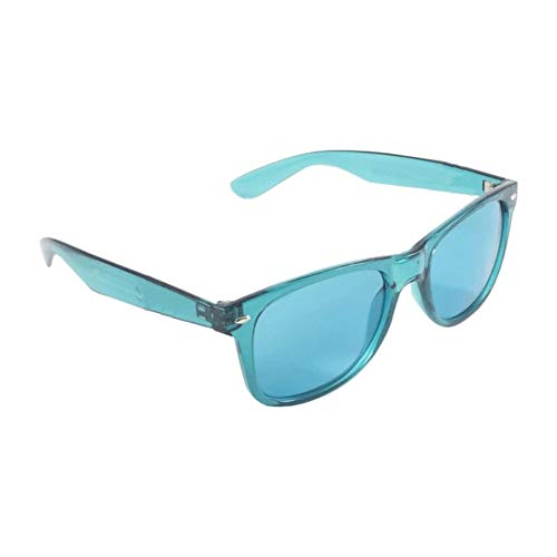 Wonderfulhony Gafas de terapia de color - Chakra Mood Light Therapy Cromoterapia Gafas (AGUA)
