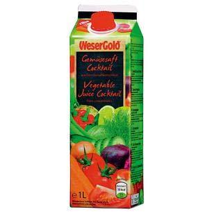 WeserGold Gemüsesaft, 8er Pack, 8 x 1 l