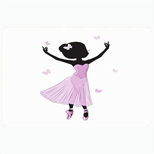 Alfombrilla de bao Disfraz Linda bailarina pequea Princesa Tiptoe Vestido rosa Diseo Cuerpo de ballet Divertido Dedos de los pies aireados Bailarina Alfombras de bao de felpa decorativas Alfombras