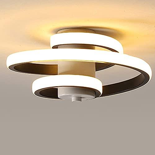 Lámpara de Techo Moderna, 18W Plafón LED Moderno, Lámpara de Techo de Diseño Línea Espiral, Iluminación de techo para Salón Dormitorio Cocina Sala de Estar Pasillo Comedor, 220V (Blanco Cálido 3000K)