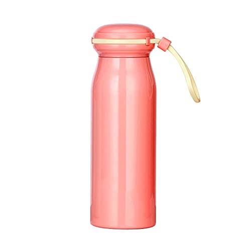 Mosako - Botella de agua de acero inoxidable 304 con doble pared, termo para bebidas calientes y frías, botella de deporte sin BPA, 360 ml, color rosa