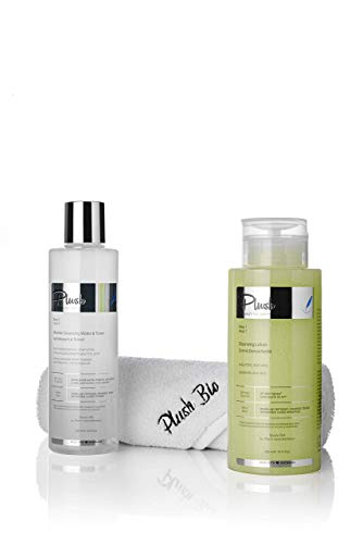 Plush luxuryBIOcosmetics - Set 2 products + gift towel Plush - make-up removal, cleansing, toning, detoxifying - skin types: mature, sensitive