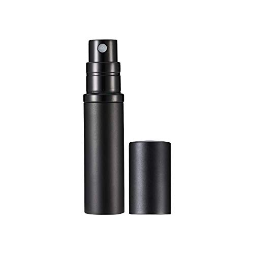 Refillable Perfume Bottle Atomizer for Travel, Yeejok Portable Easy Refillable Perfume Spray Pump Bottle for Men and Women with 5ml Pocket Size-Black