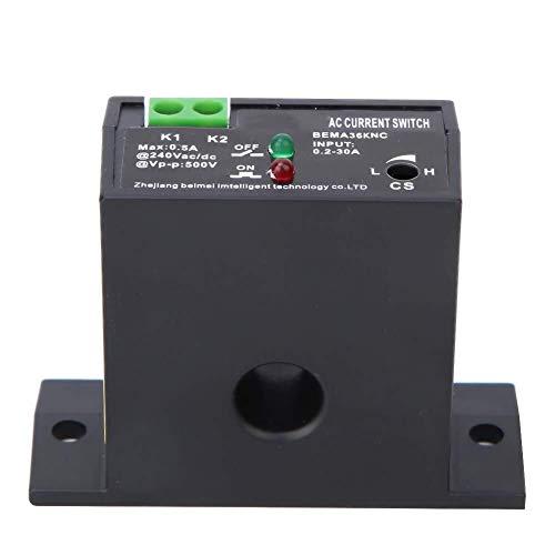 IGOSAIT Conmutador de detección, 0,2~30A antideflagrante ajustable AC sensora de corriente Interruptor Self-Powered conmutador de detección Compatible with la subestación, el dispositivo de control