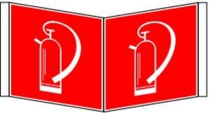 0726. Hoek schild brandblusser F 005 - plastic BRANDSC WIN LNL
