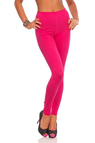 FUTURO FASHION - Damen Leggings mit hohem Bund - knöchellang - auch in Übergrößen - LWP - Pink - 36