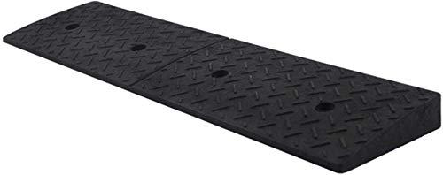 PANGPANGDEDIAN Rampa de seguridad Rampas de bordillo, Rampas de goma para vehículos Rampas de carga de muelle de fábrica Rampas antideslizantes negras Zona de desaceleración (tamaño: 100 x 25 x 4 cm)