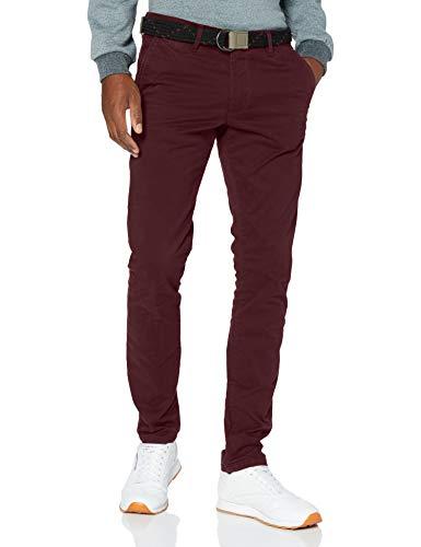 Teddy Smith 10114794D Pants, Dark Wine, 36 Homme