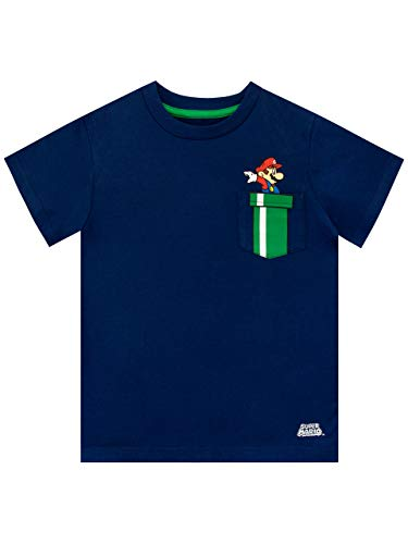 Super Mario Jungen T-Shirt Blau 140