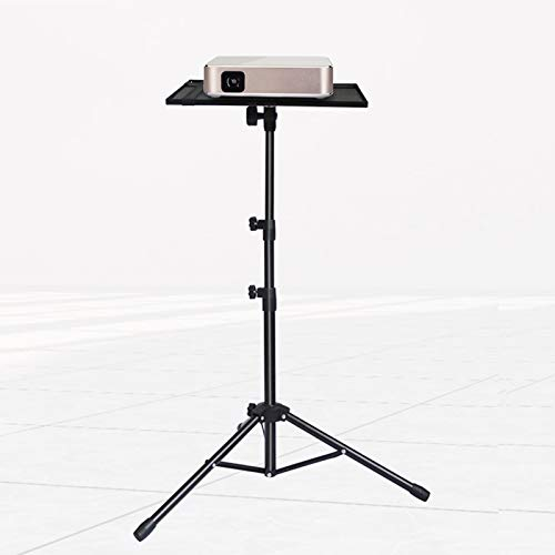 GJQGYY Laptop Tripod, Portable Projector Stand Tripod, Laptop Stand Adjustable Height 17.7 to 42.7 inch - Black