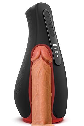 Masturbatoren Cup SENDRY Intelligente Masturbator Sexspielzeug Vibratoren für Männer Masturbieren Sex Men Oral Cup Mund Erotik Induktion Zählfunktion 7 Vibrationsmodi 2 Heizstufen Wasserdicht