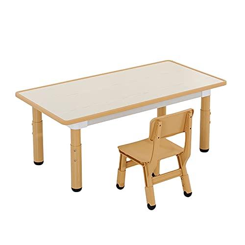 Juego de mesa y silla para niños, altura ajustable, mesa y silla de estudio para niños en el hogar, juego de escritorio de educación temprana para jardín de infantes, carga estable y antideslizan