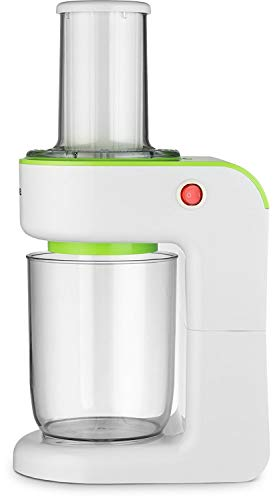 Gourmia GS325 Electric Vegetable Spiralizer - Veggie Pasta Noodle Maker - 3 Blades - Wide Mouth Feeder - Green - Free Recipe Book