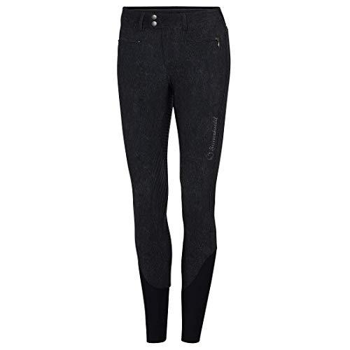 Samshield Damen Reithose Diane Jeans, schwarz Vollbesatz mit Glitzerapplikationen, Größe:34