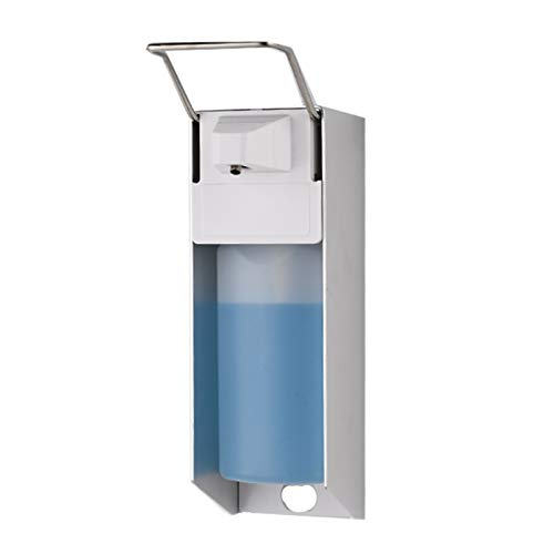 Tangpingsi Dispenser di Sapone, Parete Dispenser di Sapone 1000ml Euro Donatore Desinfektionsspender Manuale della Pompa della Lozione Igienico Riutilizzabile per Le Scuole, Cucina, Bagno