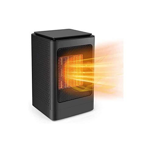 Calentador eléctrico, calentador de ventilador, mini escritorio portátil del ventilador 3s Calefacción rápida Calentador eléctrico y protección contra sobrecalentamiento para el termostato de oficina