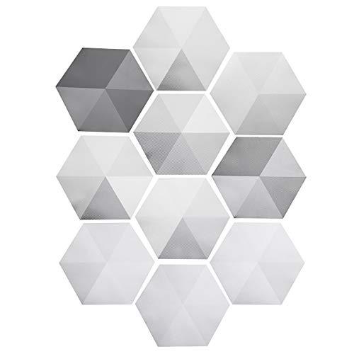 MJJEsports 10 Stks DIY Zeshoek PVC anti-slip matten tegel zelfklevende Sticker voor Keuken Badkamer Vloermuur