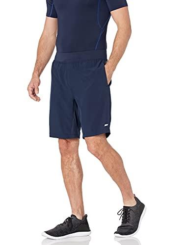 Amazon Essentials Men's 9' Inseam Woven Stretch Training Short, Navy, Large