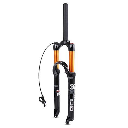 TYXTYX Horquilla de suspensión para Bicicleta de montaña MTB Air 26/27,5/29 Pulgadas, Horquillas Delanteras de Bicicleta de 120mm de Viaje de aleación Ultraligera de 1-1/8'