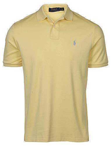 Polo Ralph Lauren Men's Medium Fit Interlock Polo Shirt (Small, Wicket Yellow)