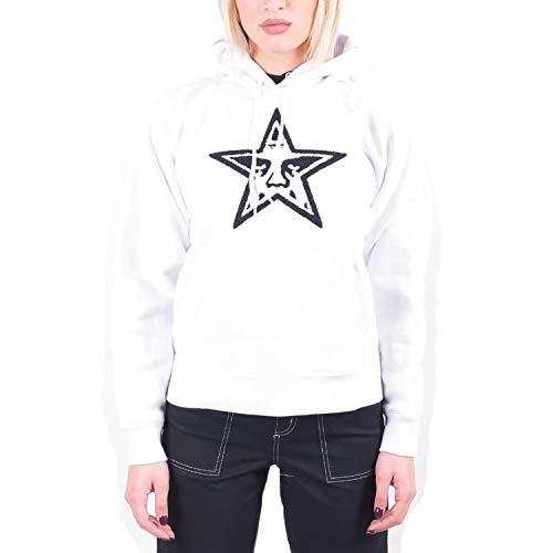 Obey Star Face Hood Sudadera blanca para mujer 22519W025-WHT Bianco L