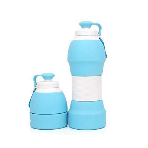 N\A Jiexue Silicone Bouteille d'eau Pliable Rétractable Tasse d'eau Sport Bouteille d'eau pour Camping Randonnée Voyager Marcher Courir en Plein Air