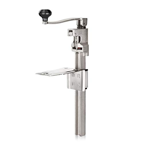 """New Star Foodservice#1 Manual Table Can Opener with Plated Steel Base For Cans Up to 11"""" Tall"""