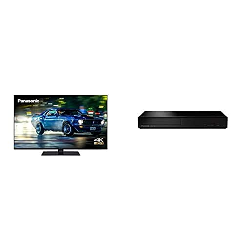 Panasonic TX-43HX600BZ 43 Inch 4K Multi HDR LED LCD Smart TV with Dolby Vision and Dolby Atmos + DP-UB150EB-K 4K Ultra HD Blu-Ray Player with HDR10+ Black Compact