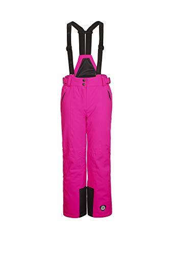Killtec Mädchen Gandara Jr Skihose mit abzippbarem Latz, Schneefang und Kantenschutz, pink, 176 (XL)
