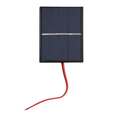 0.65W 1.5V 300mA Panel solar de silicio policristalino Panel de cargador de células de energía solar mini Células solares de bricolaje con cable - Negro y azul