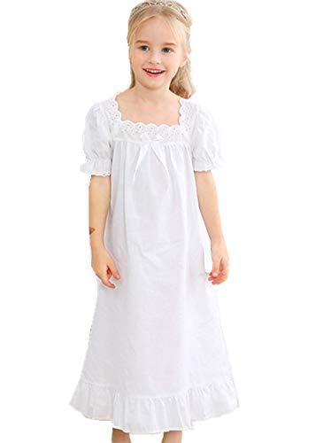 per bambini dai 3 ai 12 anni in cotone HOYMN a maniche corte Camicia da notte per bambina