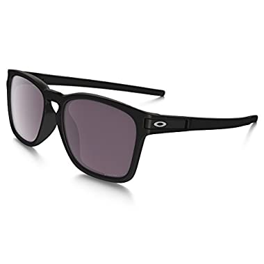 Oakley Men's Latch sq (a) Polarized Iridium Rectangular Sunglasses, Matte Black, 55 mm