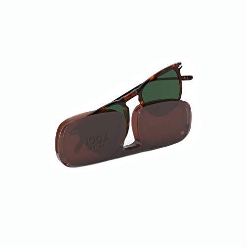Nooz Sonnenbrille polarisiert für Herren und Damen - UV-Schutz Kategorie 3 - Farbe Tortoise - mit Kompakt-Etui - DINO Kollektion