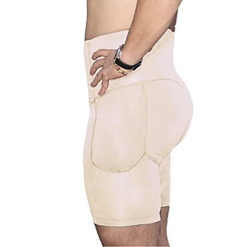 Mężczyźni Wyściełane Figi do Podnoszenia Bioder Kontrola Brzucha Szorty Modelujące Wyszczuplający Model Sylwetki z Wysoką Talią Bielizna Uciskowa Bokserki (Color : Skin, Size : 6XL)