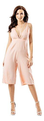 Momo&Ayat Fashions dames dubbele riem Culotte Jumpsuit UK grootte 8-14