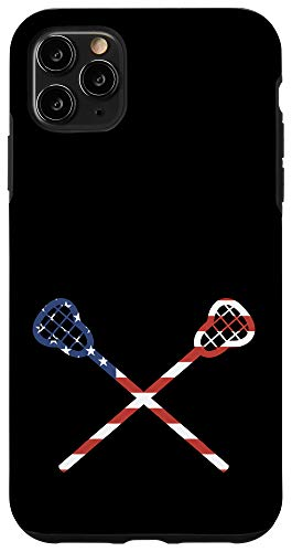 Lacrosse Phone Accessoriesiphone 11 Pro Max Lacrosse Sticks American Flag Usa Black Background Case Dailymail