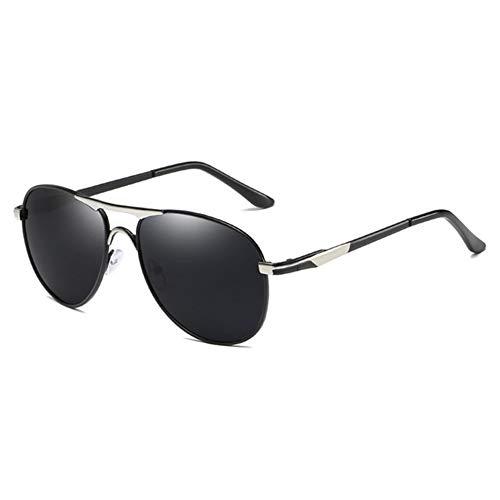 NZHK Gafas de Sol polarizadas de conducción Clásico Piloto de Aviación Marco Conductor Gafas HD antideslumbrante Gafas de Sol Hombre UV400 Gafas Gafas de Sol polarizadas (Color : Orange)