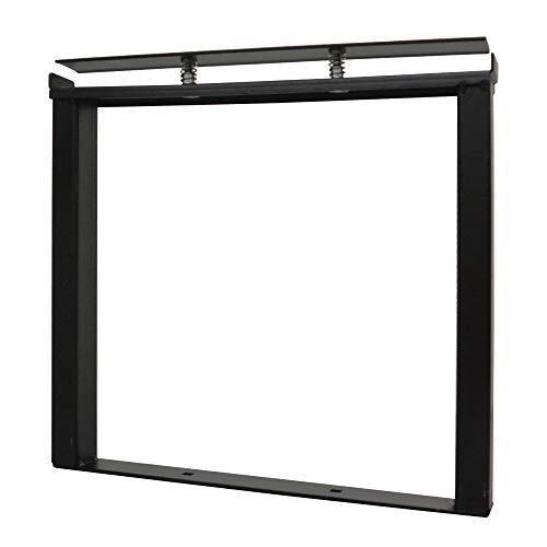DIY-ID ブラック クランプスシェルフ 250基本セット ID-065 ビス打ちなし5分で棚が作れる。1x4材をはさみ込むだけの簡単DIYシェルフ。