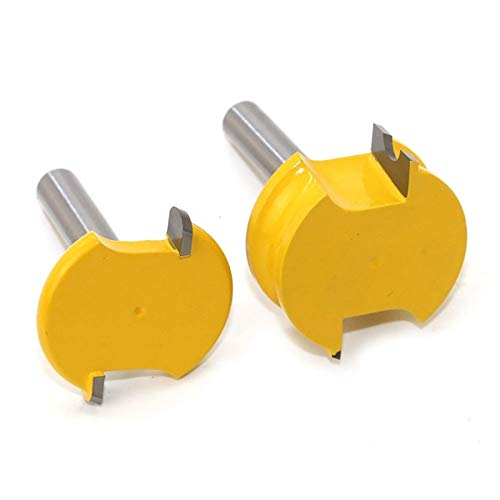 Pangyoo PYouo-Best Router bit 2 Pcs Cemented Carbide Wood Tenon Milling Cutter Bits, 8Mm Shank Canoe Flute and Bead Router Bit Set, Durable Products (Cutting Edge Length : As Decription)
