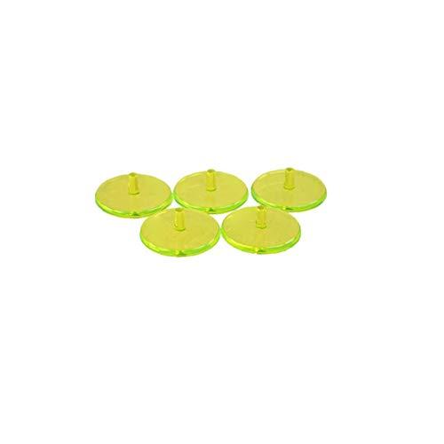 Helle Farbige Golfball-markierung Position Mark Flach Rund Transparente Plastik Golf Lage Zubehör Fluoreszenz Gelb 50pcs