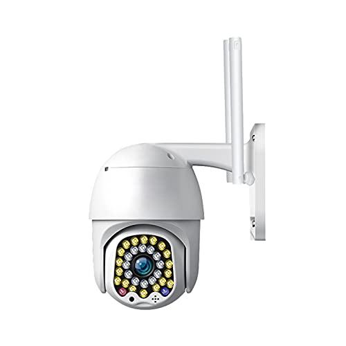Cámara de seguridad para exteriores, cámara HD de 1080p, seguimiento automático y alarma de luz, reflector y visión nocturna en color, cámaras de vigilancia para el sistema de seguridad del hogar