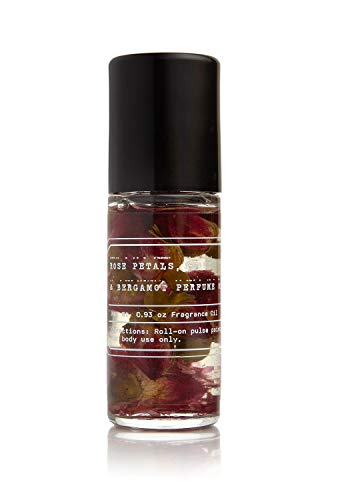 No.1 Rose Petals, Peony & Bergamot Fragrance Oil Rollerball - Tru Fragrance and Beauty - Scented Perfume Oil with Flower Buds, Apricot, Sweet Almond Oils & Vitamin E - 0.93 oz