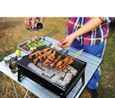310M ibqiCL. SL500  - MUBAY Holzkohlegrill BBQ für Picknick im Freien Tragbare Grillgrill Edelstahl BBQ Grill Non-Stick-Oberfläche Falten Grillgrill Grill Zubehör