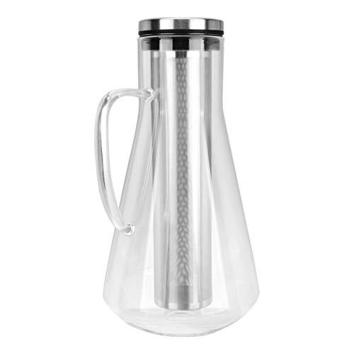 Cabilock 1600Mlコールドブリューコーヒーメーカーアイスコーヒードリップポットホウケイ酸ガラスティーピッチャー付きストレーナーインフューザー用ホームキッチンオフィス