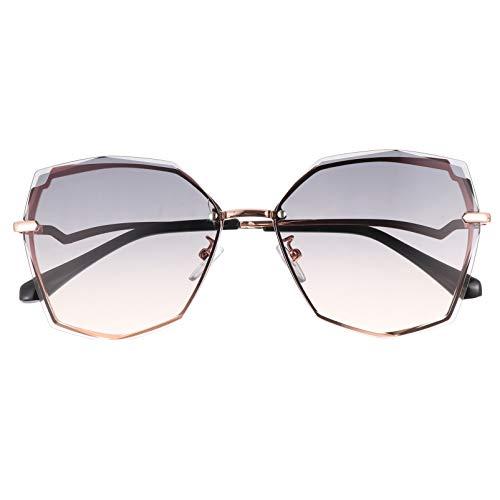SOIMISS óculos de sol femininos e masculinos para praia, óculos de sol para dirigir, óculos de sol geométricos com armação metálica polarizada cores sortidas 1, Cores sortidas 3, 14.5×5.5cm