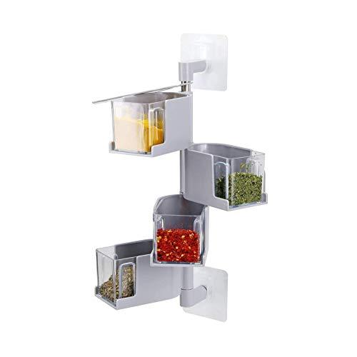 Caja de condimentos Transparente giratoria de Pared Tipo Pasta para el hogar...
